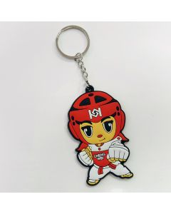 Keychain TKD Girl Red Gear