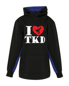 Youth Hoodie I Love TKD B/BLUE