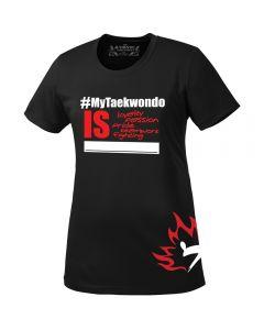 Black #MyTaekwondo Ladies T-Shirt