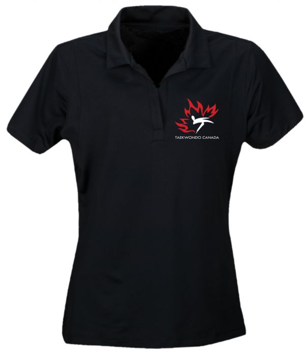 TC Golf Shirt Ladies Black