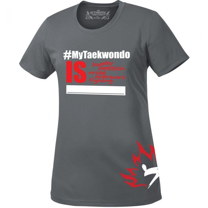 Grey #MyTaekwondo Ladies T-Shirt