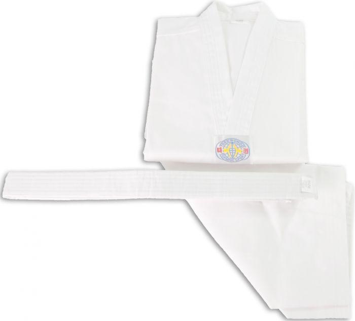Taekwondo Uniform White V-Neck
